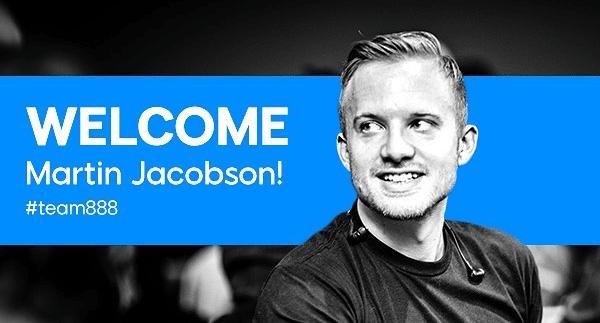 Мартин Якобсон присоединился к team 888 Poker