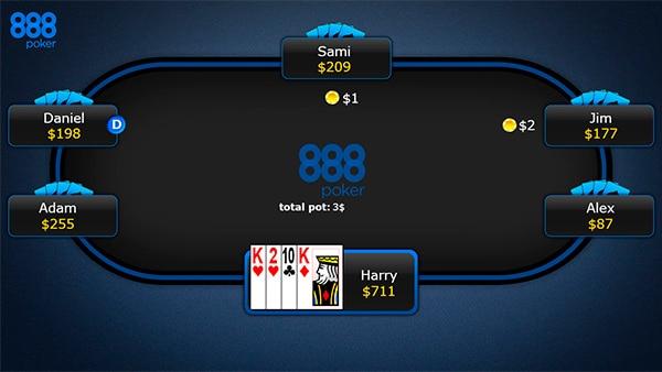 Завершение покерной раздачи в игре Омаха