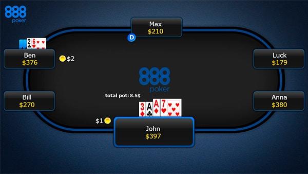 Второй раунд торговли в 7 карточном стаде
