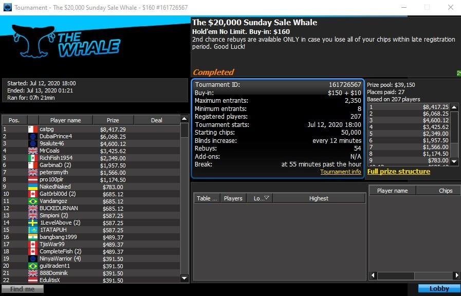 Sunday Sale Whale