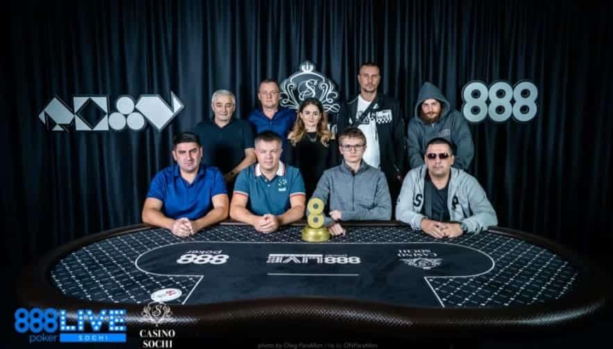 Финальный стол 888poker Live Weekend Sochi