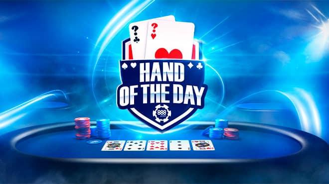 Побеждай с «рукой дня» на 888poker и зарабатывай призы до $1 тыс.