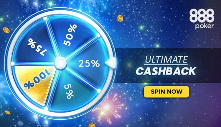 Вращай колесо фортуны и получай до 100% рейкбека в новой акции на 888poker!